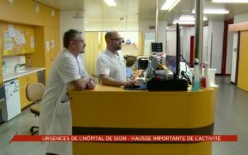 Hausse importante de l'activité des urgences de l'Hôpital de Sion