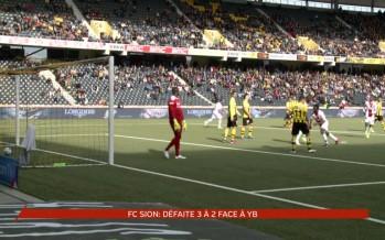Football: Sion a perdu 3 à 2 face à Young Boys