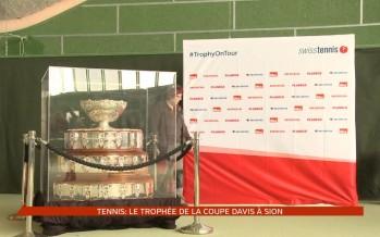 Tennis: le trophée de la coupe Davis à Sion