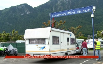 Camping: les Romands découvrent le Chablais