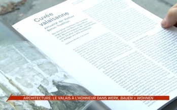 """Architecture: """"werk, bauen + wohnen"""" met le Valais à l'honneur"""