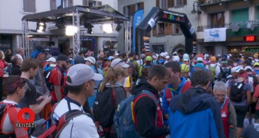 OMNIBUS au départ de la course Orsières-Champex-Chamonix (Ultra-Trail du Mont-Blanc)