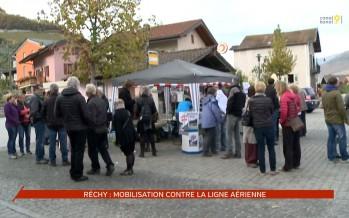 Mobilisation à Réchy contre la ligne aérienne à très haute tension