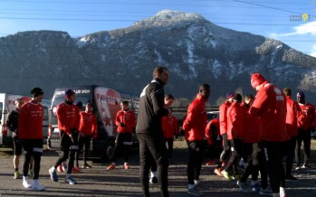 Football: c'est la reprise pour les joueurs du FC Sion