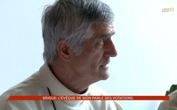 L'évêque de Sion Jean-Marie Lovey parle des votations