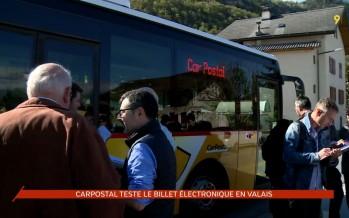 Transports: en Valais, CarPostal teste le billet électronique