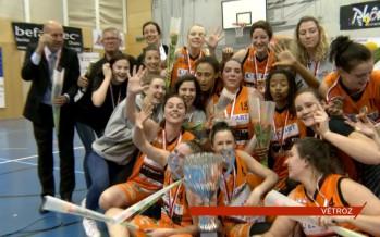 Basketball: les Vétrozaines s'offrent un 5e titre national en battant Fribourg