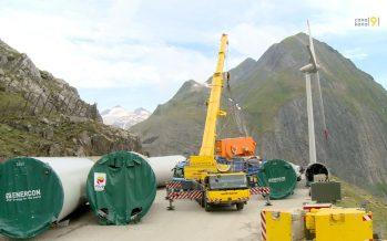 Énergie éolienne: un nouveau parc à 2500 mètres dans la vallée de Conches
