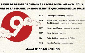 La revue de presse de Canal9 à la Foire du Valais, avec Christophe Darbellay