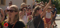 OMNIBUS à la Marche des Cépages entre Sierre et Salquenen