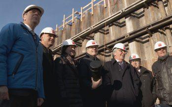 Campus Energypolis: pose de la première pierre de la Haute Ecole d'ingénierie à Sion