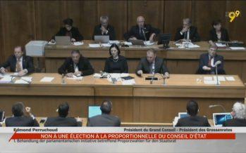 Grand Conseil: non à l'élection proportionnelle
