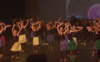 Les majorettes d'Ayent en spectacle aux côtés des musiciens de l'Echo du Rawyl