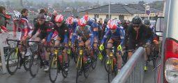 Zoom sur le cycliste Simon Pellaud qui fait escale en Valais