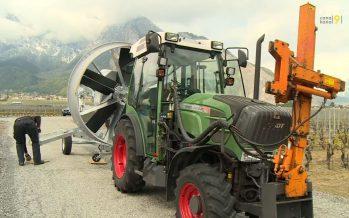 Nouveau risque de gel cette nuit en Valais: quatre producteurs vont tester une nouvelle machine