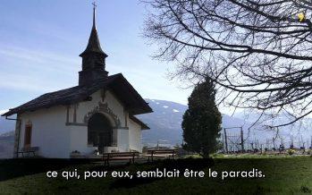 À la sortie de la messe à Évolène: une coutume racontée en patois