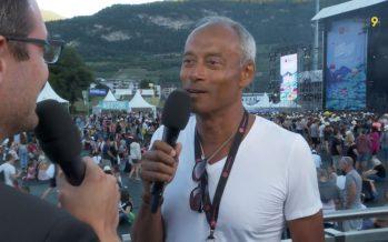 Le boss du festival SION SOUS LES ÉTOILES Michael Drieberg est un homme heureux!