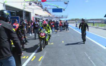 En déplacement au «Bol d'Or» Lea Huszno a suivi des Valaisans pour 24 heures d'endurance à moto