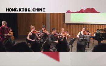 «Au bout du web»: l'actualité commentée depuis Hong Kong par une délégation de musiciens du Conservatoire de Sion