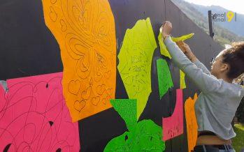 LES COULISSES DE LA FOIRE: le mur d'expression qui «déchire»