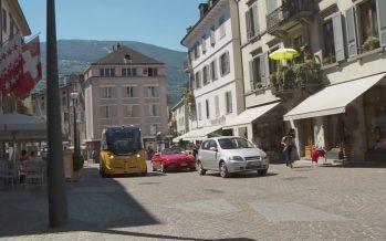 À Sion, les navettes sans chauffeur de CarPostal se mêleront à la circulation entre la vieille ville et la gare