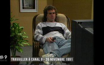 Archives: il y a 26 ans sur Canal9, comment motiver les gens à venir faire de la télé