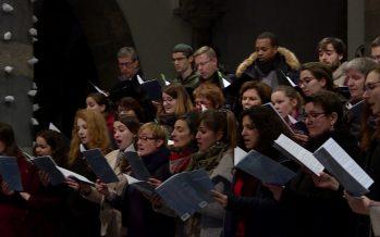 L'ensemble vocal de St-Maurice donne son dernier concert dirigé par Pascal Crittin à la basilique de l'abbaye
