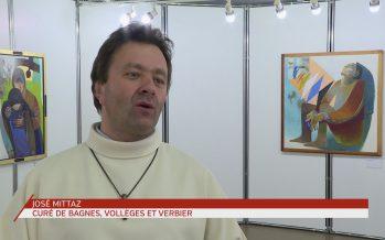 Le créateur d'art sacré Arcabas expose pour la première fois en Suisse dans la salle communale de Bagnes