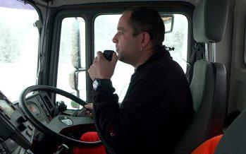 Déblaiement sur l'autoroute entre Sierre et Conthey: on embarque dans le chasse-neige de Stéphane