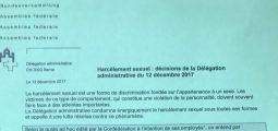 A Berne, un code de bonne conduite explique comment différencier flirt et harcèlement: «Ridicule», disent les députés valaisans