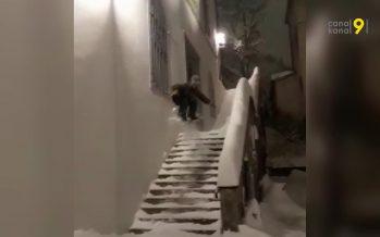 Et vous, vous avez bien profité de la neige dimanche? Petite compilation!