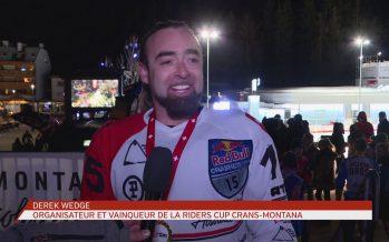 Victoires valaisannes en ice cross downhill: Derek Wedge et Anaïs Morand remportent la 1ère Riders Cup de Crans-Montana