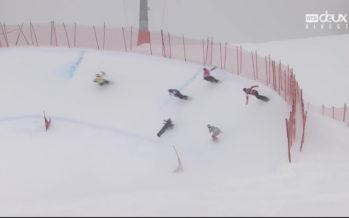 Deux épreuves mondiales de snowboard cross se déroulaient samedi à Veysonnaz, site potentiel de la discipline pour Sion 2026