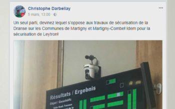 Le conseiller d'Etat Christophe Darbellay allume l'UDC sur Facebook