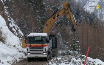 Éboulement de Trient: ouverture de la route de la Forclaz repoussée mercredi 7 mars vraisemblablement
