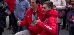 De retour des JO de PyeongChang, les médaillés valaisans ont été fêtés à Sion