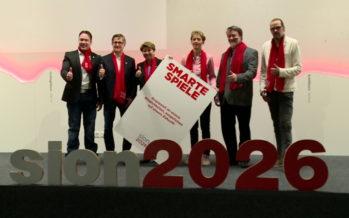 La campagne haut-valaisanne en faveur des Jeux olympiques d'hiver de Sion 2026 a été lancée ce matin à Naters