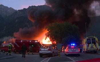 Incendie d'une rare ampleur à Evionnaz