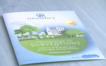 Monthey lance un nouveau programme de subventions pour l'efficacité énergétique et les énergies renouvelables