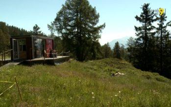 Installé sur l'alpage de Corbyre, sur les hauts de Crans-Montana, le Cube 365 reprend du service