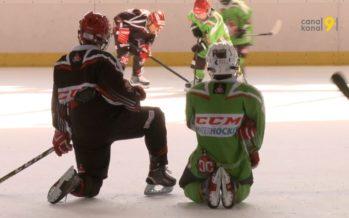 Deux cents jeunes hockeyeurs de l'association Ice Hockey Valais-Wallis s'entraînent à Loèche-les-Bains