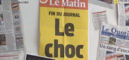 Clap de fin pour «Le Matin» papier. L'ambiance était lourde lors de la dernière séance de rédaction ce matin