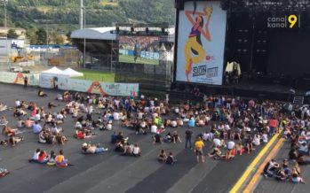 Avant les concerts, le public de Sion sous les étoiles a vibré lors de la finale du Mondial de foot