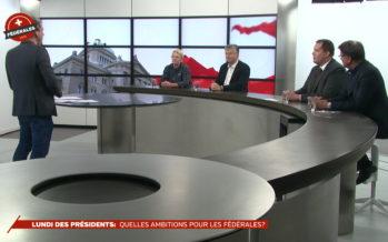 Interro surprise pour les quatre présidents de parti réunis pour parler de la campagne des Fédérales 2019
