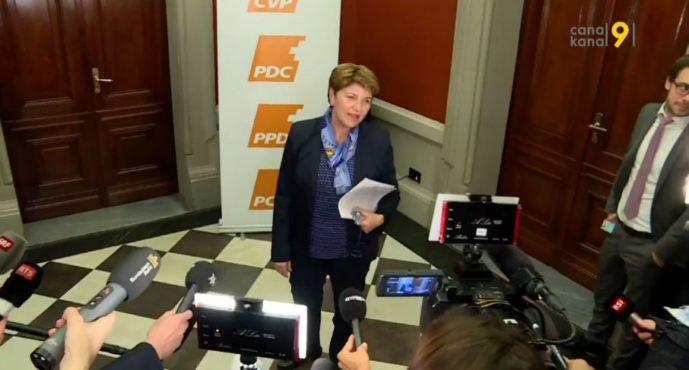 Succession de Doris Leuthard au Conseil fédéral: le PDC désigne deux candidates, Viola Amherd et Heidi Z'graggen