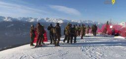 J-1 pour les Coupes du monde de ski à Crans-Montana: militaires et bénévoles s'affairent sur la piste
