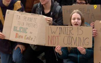 Climat: les jeunes se préparent à une nouvelle mobilisation. En Valais, les étudiants ont rencontré le conseiller d'Etat Darbellay
