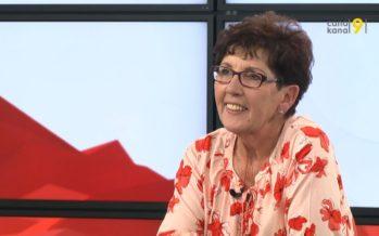 Anne-Marie Sauthier-Luyet, présidente du Grand Conseil, commente le menu de la session à venir