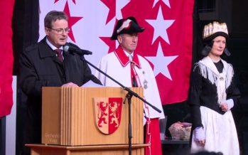 Retour triomphal en Valais du nouveau président du Conseil des Etats Jean-René Fournier