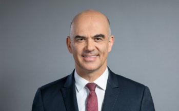 Le conseiller fédéral Alain Berset en visite en Valais